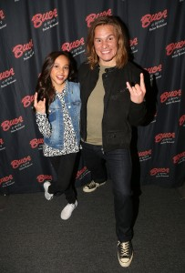 "NEW YORK, NY - MARCH 14: Breanna Yde and Tony Cavalero promote thier New Nickelodeon TV Series (based on the film) ""School Of Rock"" at Buca di Beppo Times Square on March 14, 2016 in New York City. (Photo by Bruce Glikas/FilmMagic) *** Local Caption *** Breanna Yde; Tony Cavalero"