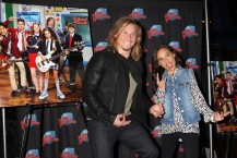 "NEW YORK, NY - MARCH 14: Tony Cavalero and Breanna Yde promote thier New Nickelodeon TV Series (based on the film)""School of Rock"" at Planet Hollywood Times Square on March 14, 2016 in New York City. (Photo by Bruce Glikas/Bruce Glikas/FilmMagic) *** Local Caption *** Breanna Yde; Tony Cavalero"