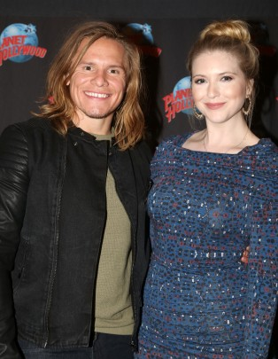 "NEW YORK, NY - MARCH 14: Tony Cavalero poses with his wife as he promotes his New Nickelodeon TV Series (based on the film)""School of Rock"" at Planet Hollywood Times Square on March 14, 2016 in New York City. (Photo by Bruce Glikas/Bruce Glikas/FilmMagic) *** Local Caption *** Tony Cavalero"