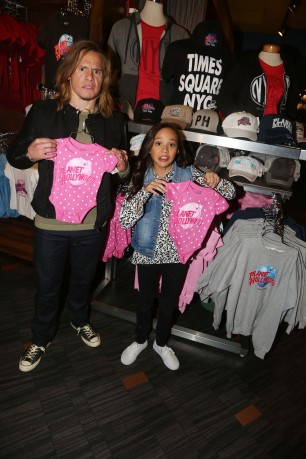 "NEW YORK, NY - MARCH 14: Tony Cavalero and Breanna Yde promote thier New Nickelodeon TV Series (based on the film) ""School Of Rock"" at Planet Hollywood Times Square on March 14, 2016 in New York City. (Photo by Bruce Glikas/FilmMagic) *** Local Caption *** Tony Cavalero; Breanna Yde"