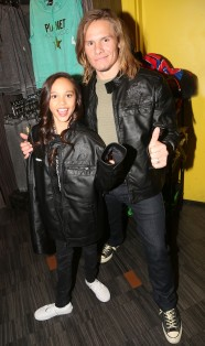 "NEW YORK, NY - MARCH 14: Breanna Yde and Tony Cavalero promote thier New Nickelodeon TV Series (based on the film) ""School Of Rock"" at Planet Hollywood Times Square on March 14, 2016 in New York City. (Photo by Bruce Glikas/FilmMagic) *** Local Caption *** Breanna Yde; Tony Cavalero"
